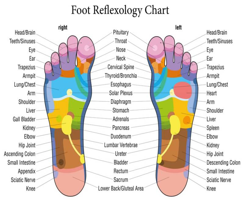 Have a quick look at this foot reflexology chart